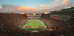 The Los Angeles Memorial Coliseum during a USC football game