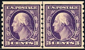 Washington on coil stampsissue of 1911