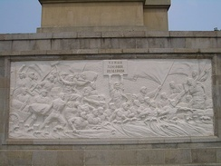 The people of Wuhan fighting the flood of 1954, as depicted on a monument erected in 1969