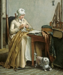 Interior with Sewing Woman, c. 1800-1810 by Wybrand Hendriks