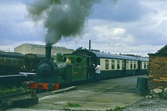 Steam train at Layerthorpe in September 1977