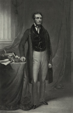 A full-length portrait of Pratt that was engraved on steel in 1845.