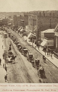 1870 Decoration Day parade in St. Paul, Minnesota