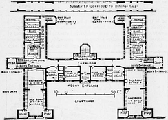 A drawing showing Plan of a Master's House, New Christ's Hospital (Webb and Bell).