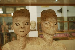 The 'Ain Ghazal Statues (c. 7250 BC) found in Amman, are some of the oldest human statues ever found.