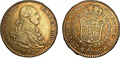 Coins with image of Charles IV of Spain, 1798