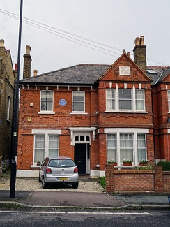 Mee's former home in Tulse Hill, London.