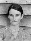 Walker Evans, Allie Mae Burroughs, Wife of a Cotton Sharecropper, Hale County, Alabama, c. 1935-1936, photograph