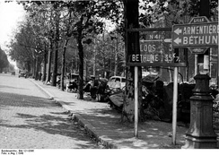 Wrecked vehicles near Lille, after the 1940 siege of the city.