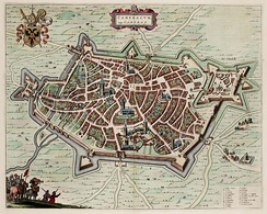 City map dating from 1649