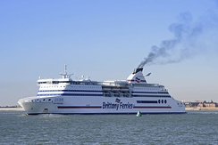 MV Cap Finistere departing Portsmouth bound for Bilbao.