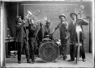 Carter and King Jazzing Orchestra in 1921, Houston, Texas