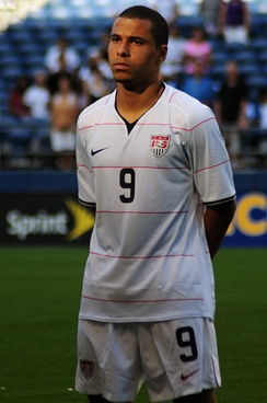Davies before a match for the United States men's national team