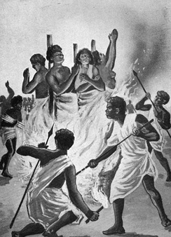 Christian martyrs burned at the stake by Ranavalona I in Madagascar