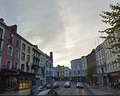 Cork city in the evening