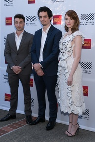 Hurwitz, Chazelle, and Stone at the Mill Valley Film Festival in October 2016