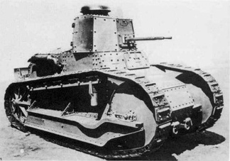 The Fiat 3000 light tank used by Italian forces during the campaign.[22]
