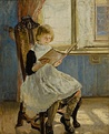 Girl Reading (1889), by Fritz von Uhde. Oil paint on canvas