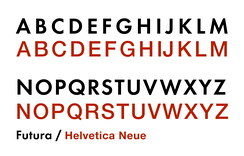 Different sans-serif designs take different decisions on the proportions of the capitals. Futura's capitals are inspired by Roman square capitals, with considerable variation in width. Grotesque sans-serifs on the nineteenth-century model such as Helvetica have capitals that are more uniform in width.[b]