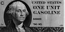 Gas coupon printed but not issued during the 1979 energy crisis