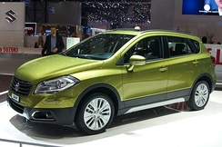 Suzuki's new, larger SX4 at the 2013 Geneva Motor Show