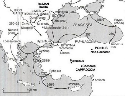Gothic invasions of the Roman Empire in the 3rd century