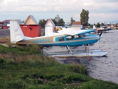 Helio Courier H-295 on floats, Lake Hood Seaplane Base, Anchorage, AK