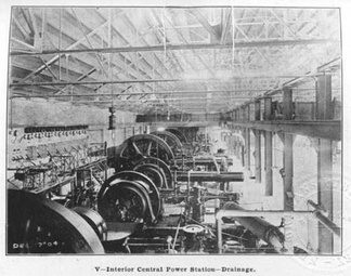 The central power plant for the pumping stations of the New Orleans drainage system, 1904