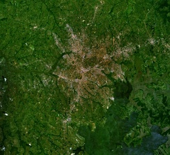 View of Kampala from space
