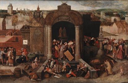 Cleansing of the Temple. Unknown artist