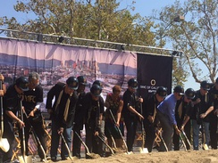 Groundbreaking ceremony for Los Angeles FC in 2016.