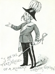 Drawing from programme of children's Pirates, 1884