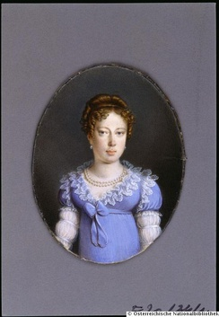Leopoldina in her youth, 1800s