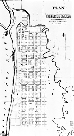 The original plan for Memphis, Tennessee, as surveyed in 1819