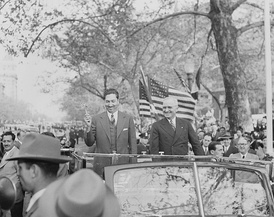 Miguel Alemán Valdés, president of Mexico (left) and Harry S. Truman, president of the United States (right) in Washington, D.C.