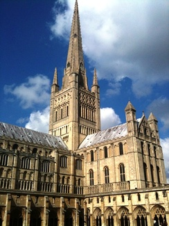 Norwich Cathedral is one of the great Norman buildings of England.