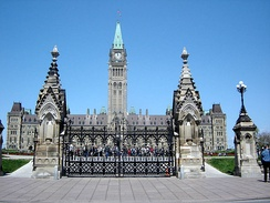 Parliament Hill in Ottawa, home of the federal government. Canada's Federal Government is the largest single employer in the National Capital Region