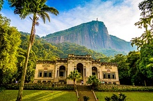 Parque Lage with Corcovado in the background