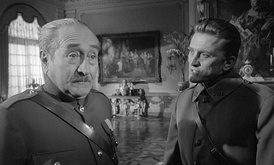 Adolphe Menjou (left) and Kirk Douglas (right) in Paths of Glory (1957)