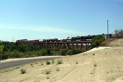 Tex-Mex Railway International Bridge view from Laredo