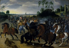 Cavalry engagement from the struggle of the Dutch against Spain c. 1605
