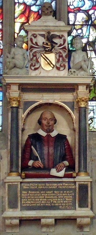 Shakespeare's funerary monument in Stratford-upon-Avon