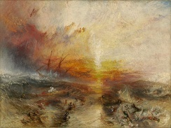 Slavers throwing overboard the Dead and Dying — Typhoon coming on, J. M. W. Turner, 1840.