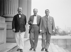 Fall (center) with U.S. Senators Marcus A. Smith (left) and Frank B. Brandegee (right) in 1918