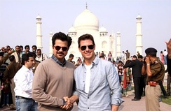 Tom Cruise along with Anil Kapoor at the Taj Mahal for the film promotion.
