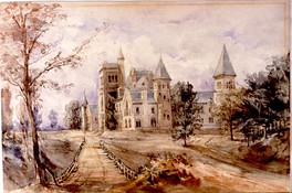 A painting by Sir Edmund Walker depicts University College as it appeared in 1858.