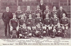 The Welsh 1905 team that beat the touring Original All Blacks