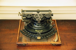 Woodrow Wilson was an early adopter of the typewriter. It is believed to have helped him overcome dyslexia to write correspondence. Shown is Wilson's typewriter, at Woodrow Wilson House Museum.