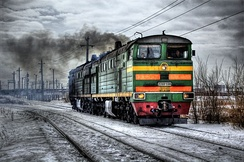 Russian 2TE10U Diesel-electric locomotive