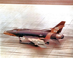 612th TFS F-100D 53-3513 taxiing on the parking apron